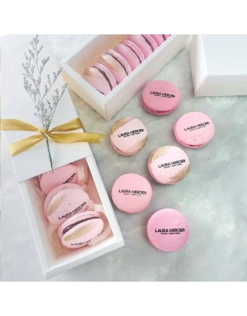 Macarons (with logo print, per piece)